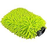 CarTech | Guante de Chenille para Limpieza del Coche | 2 unidades | Mitt cepillo Guante, Guante Microfibra de Limpieza Lavado para Coche Cocina Hogar (Verde Neon)