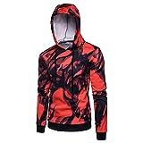 Männer Print Hoodie Langarm Sport Sweat Shirt Ink Muster Lässige Kapuzenpullover Pullover Top