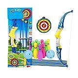 Sécurité Kids Outdoor Games Toy Bow & Arrow & Holder Archery Set Avec Suction Cup Arrows & Bowling Target Games # 03