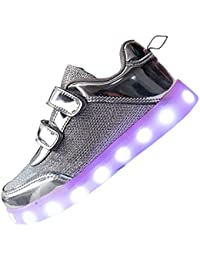 Unisex Kids LED Shoes 7 Colors USB Charging Flashing Sneakers Outdoor Sports Trainers Running Shoes for Boys Girls