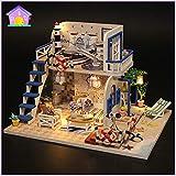 CNMNMC Musik Box Die Vorbildliche Hellblaue Küste des Vorbildlichen Häuschenbaus des Gebäude-Modells Fertigt
