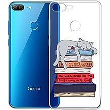 Custodia Cover Per Huawei Honor 9 Lite ( Non adatto Huawei Honor 9 ), WenJie Gatti addormentati Trasparente Silicone Sottile Back Case Molle di TPU Trasparente per Huawei Honor 9 Lite