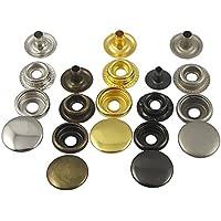 """100Set 5/8""""pulsante a scatto rapido 15mm Rivetti Fasteners in pelle per perno Kam Craft Bronze"""