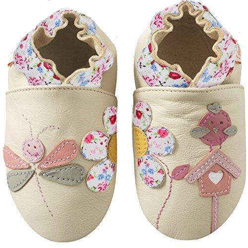6c7cff45f0fcf Tichoups chaussons bébé cuir souple le jardin féerique de valérie