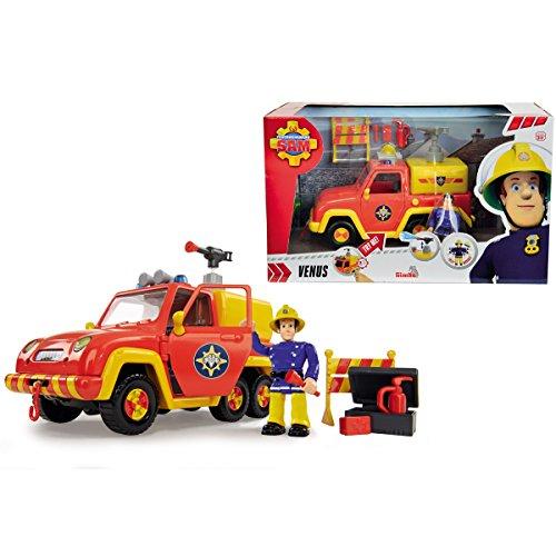 feuerwehrmann sam elvis figur Sam Feuerwehrauto Venus, Sound und Wasserfunktion, Elvis Figur, voll beweglich || Feuerwehr Mann Feuerwehrauto Rettungs Fahrzeug Kinder Spielzeug Auto