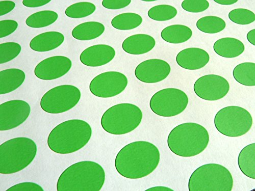 Verde Papel Pegatinas, 16x12mm Ovalado, 144 Etiquetas, autoadhesivo Etiquetas Adhesivas, Económica Pack