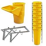 Profi Schuttrutsche Bauschuttrutsche Baurutsche 15 m, Set aus 14x Schuttrohr, Gestell und Einfülltrichter