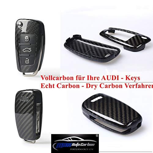 Max Auto Carbon Echt Carbon Vollcarbon Schlüssel Cover Hülle für A1 A3 A4 A5 A6 TT TTS TTRS Q2 Q3 Q5 Q7 S1 S3 S4 S5 RS3 RS4 RS5 RS6 R8