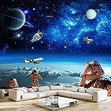 Fototapete 3D-Universum Sternenhimmel Decke Wandbild