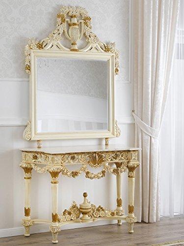 Simone Guarracino Consolle con specchio stile Barocco Decapé avorio ...