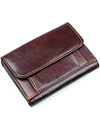 Autolock® RFID Blocage portefeuille en cuir véritable pour hommes Trois fois 66db2ca02c1