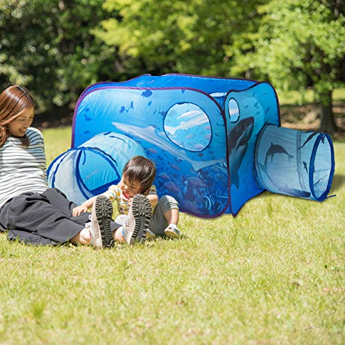 Pop-Up Spielzelte mit Tunnel Kinderzelt Kinder Tipi Krabbeltunnel Spielzeug für draußen