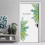 Pegatina Vinilo floral para puertas, cocinas, baños, despensas, farmacias, boutiques, probadores, restaurantes, pared/cristal academias, aticos, colegios 1.20 X 90 cm de CHIPYHOME