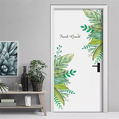 Pegatina Vinilo floral para puertas