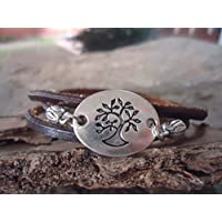 ✿ ETHNO natura albero & LEATHER ✿ avvolgente braccialetto