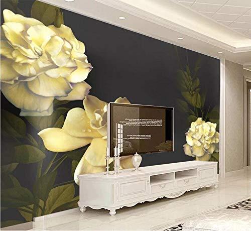 Fototapete 3D Tapete Wandbild Geprägte Gardenie Vintage Vliestapete Wand Dekoration Tapeten Wanddeko Wandbilder
