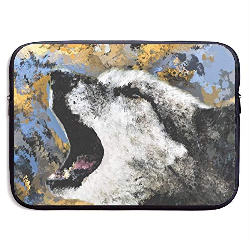 JKOVE Laptoptasche Notebooktasche,Laptop Sleeve Case Protective Bag Printed Abstract Art Painting Wolf Animal Ultrabook Briefcase Sleeve Bags Cover Aktentasche for MacBook Pro/Acer/Asus/Lenovo Dell