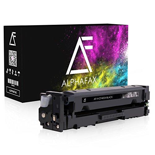 Alphafax Toner kompatibel zu HP CF400X für HP Laserjet Pro MFP M277dw, Laserjet Pro MFP M277n, Laserjet Pro M252dw, Laserjet Pro M250 Series - 201X - Schwarz 2.800 Seiten