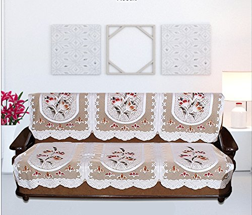 Home Sajawat 3 Seater Sofa Cover Set - Premium Quality Net Fabric Sofa Cover