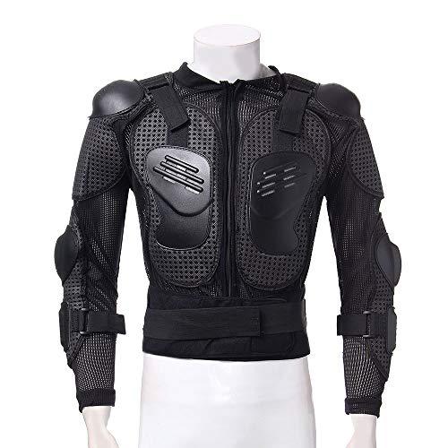 KKmoon Motorrad Schutz Jacke Pro Motocross ATV Protektorenjacke mit Rücken Protektor Scooter MTB Enduro für Damen und Herren Schwarz M