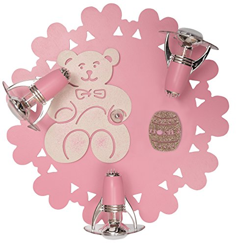 Kinderzimmerlampe Mädchen, HONEY, rosa, mit Tier-Design, leuchtenladen, Kinderlampe