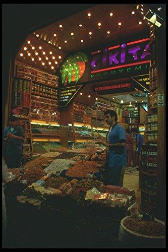 Egyptian Spice (166047 Egyptian Spice Bazaar Istanbul A4 Photo Poster Print 10x8)