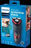 Philips Series 3000 Wet & Dry Men's Electric Shaver with Pop-up Trimmer (2-Pin UK Bathroom Plug) - S3580/06