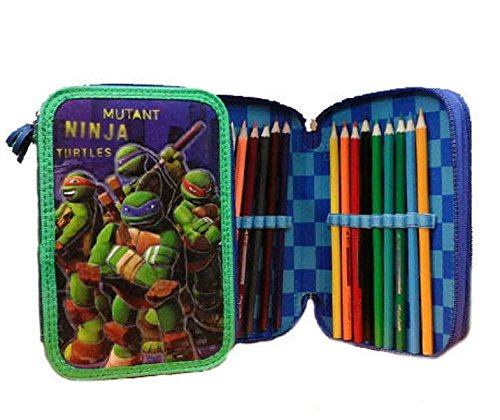 Estuche 3zip Mutant Ninja Turtles colores Giotto 45pz