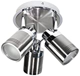 Directional Spotlights Chrome & Brushed Stainless Steel inc Bulbs Bathroom Safe for Zone 1 & 2 Use