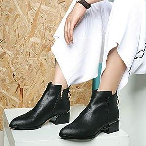 Top Shishang Leather high Heel einfache Mode Martin Stiefel Chelsea Stiefel Damen und Stiefeletten westlichen Stiefeletten