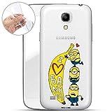 Hülle für Samsung Galaxy S4 - Minions Handyhülle mit Motiv und Optimalen Schutz TPU Silikon Tasche Case Cover Schutzhülle - Love Banana