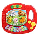 Juguete de piano - SODIAL(R)Piano de granja de animal educativo musical de ninos bebe Juguete...