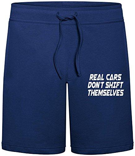 Real Cars Don't Shift Themselves Sommer Sweat-Shorts für Männer - 80% Baumwolle, 20% Polyester - Hochwertige Hosen für Indoor & Outdoor-Aktivitäten Large (Fit-shift Relaxed)