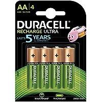 Duracell Recharge Ultra AA Prericaricate Batterie Stilo Ricaricabili 2500 mAh, Confezione da 4
