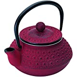 Ibili Hanoi Single teapot - teteras (Rojo, hierro fundido, Single teapot)