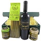 Geschenkset Primitivo mit Pasta, Pesto, Oliven