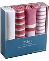 YEB02 Classic Gentlemen 4 Cotton Handkerchiefs Set Wedding Gift Ideas By Y&G