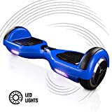 ACBK - Patinete Eléctrico Hover Autoequilibrio Basic con Ruedas de 6.5' + Luces LED integradas, Velocidad máxima: 10-12 km/h - Autonomía 10-20 km - Carga soportada: 20-100kg (Azul)