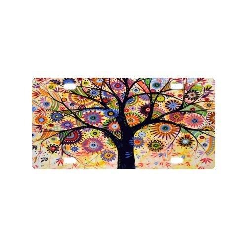 Art Baum Nummernschild mit Haltbarkeit und Stärke-12
