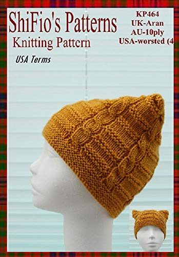 Knitting Pattern - KP464 - ladies cable hat beanie- USA ...