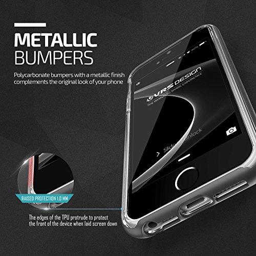 Coque iPhone 5S 5 SE VRS Design® [Noir] Transparente Antichoc [Crystal Bumper] Brillante Souple TPU Silicone Case avec Protection Contre les Chutes Housse pour Apple iPhone 5/5S/SE Noir