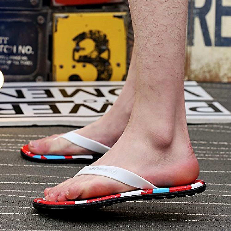 ZHNAGJIA der Sommer Herren Flip Flops  Toe Sandalen  Koreanischer Mode Strand Hausschuhe  39  Rot