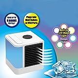 Mobiles Klimageräte Air Cooler mit Wasserkühlung Zimmer Raumentfeuchter Mini Klimaanlage ohne Abluftschlauch für Büro, Hotel, Garage, 3 Kühlstufen - 7 Stimmungslichter (Mobiles Klimageräte)