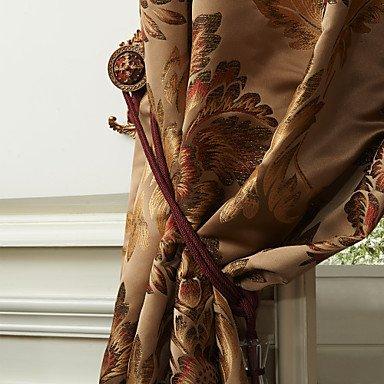 ZQ (Zwei Platten) Jacquard Vorhang Energieeinsparung von Michelle Luxury Rokoko Polyester Blume...