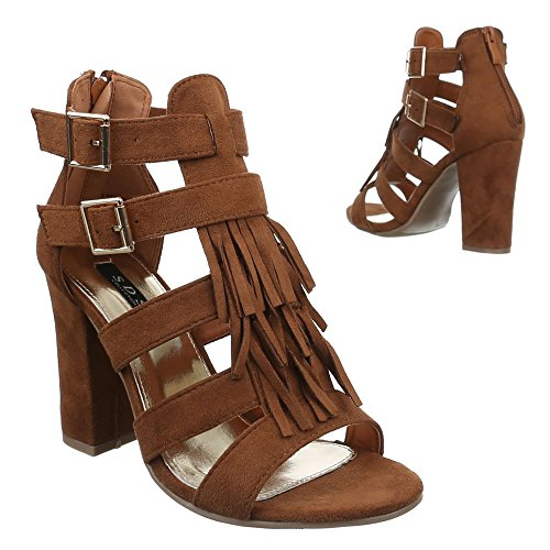 Ital-Design - Sandali  donna Marrone (Brown - Camel)