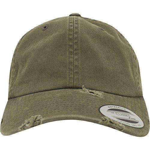 Flexfit Low Profile Destroyed Caps, Buck, one Size Buck Cap