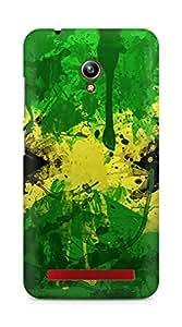 Amez designer printed 3d premium high quality back case cover for Asus Zenfone Go ZC500TG (Jamaica flag color symbol texture)