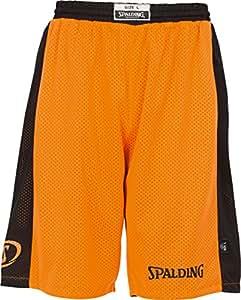 SPALDING - ESSENTIAL REVERSIBLE - Short de basket - Short reversible - Confort maximal - orange/noir - M