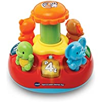 VTech Baby Push and Play Spinning Top Toy - Multi-Coloured
