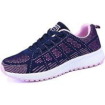 Zapatos de Deportivas de Running para Mujer Gimnasia Ligero Sneakers Negro Azul Gris Blanco 35-40